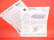 1973 MOTOROLA AM RADIO SERVICE MANUAL TM573A 1976 MAZDA RX-3 4 808 COSMO 2MM1513