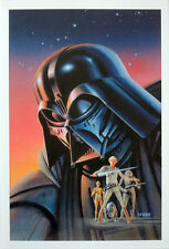STAR WARS REPRO FILM MOVIE POSTER . NOVEL COVER BY RALPH MCQUARRIE . NOT DVD