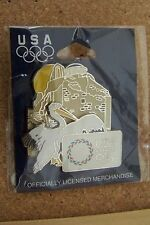 Athens 2004 USA Olympics  lapel pin Olympic rings two piece two layer