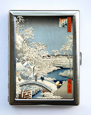 Japanese Woodblock Snow Cigarette Case Wallet Business Card Holder tattoo