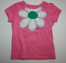 New NEXT UK Hello Flower Applique Pink Top Tee Size 4T 104cm NWOT