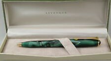 Levenger True Writer Flourish Forest Green & Gold Ballpoint Pen - New In Box