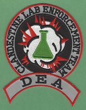 DEA CLANDESTINE DRUG LABORATORY ENFORCEMENT POLICE PATCH