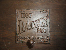 Antique Style Cast Iron Towel Hook Wall Decor Sign Nostalgia bathroom sign