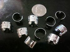 10 Sterling silver plated 11x10mm cuff earrings dangle findings 5 pair fpe099