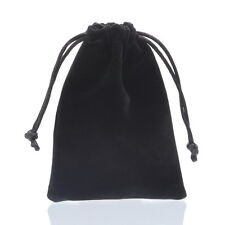 1PC Black Double-sided Flocking Velvet Drawstring Pouches Jewelry Gift Bag
