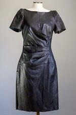 TALBOT RUNHOF DRESS BLACK STRETCH LEATHER 40/10