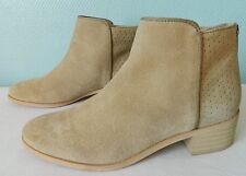 PROMOD ankle boots dos zippé CUIR DAIM beige sable val 90 euros 37 TBE