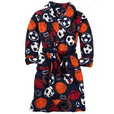 NEW Fleece BATH Pajama ROBE SPORTS BASEBALL SOCCER FOOTBALL BASKETBALL boy S 4/6