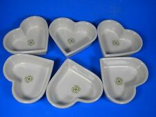 "6  Williams-Sonoma 4.5"" Heart Shaped Molds Bowls Ceramic Grande Cuisine Spain"