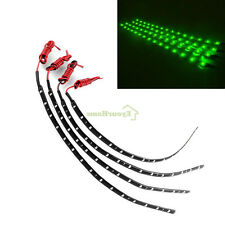 4PCS Green LED Lamp String Waterproof Flexible Car Decoration Strip Light D