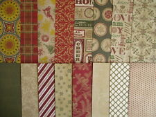 "16 Sheets Jingle all The Way Christmas 12x12"" Scrapbook backing papers"