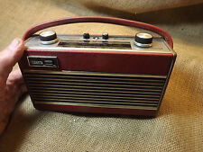 VINTAGE ROBERTS RADIO RAMBLER  MISSING BUTTONS SOLD FOR SPARES WOOD TRIM
