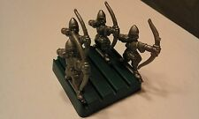 LIONHEART BOARD GAME-4x ARCHERS-SILVER ARMY-PARKER BROTHERS