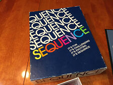 vintage 1992 SEQUENCE Card Board Game COMPLETE