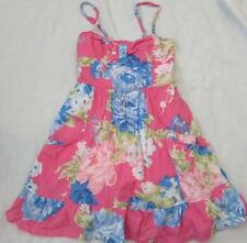 ABERCROMBIE girls kids Med 10 12 pink blue floral flower cotton sundress dress