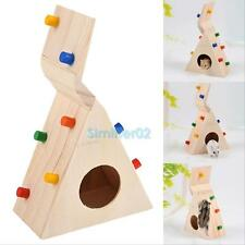 Natural Wooden Colorful Scaling Ladder Fun Toy for Small Pet Rat Hamster Mouse