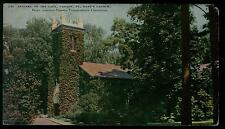 NIAGARA ON THE LAKE CANADA ST. MARK'S CHURCH 8/2/1935 COLOR POSTCARD RARE VIEW