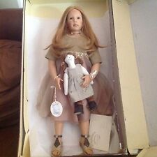 "Zapf Elissa Glassgold LE/750 2002 Gianna 29"" Doll Bonus Himstedt shoes"
