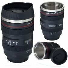 New 24-105mm Stainless Lens Thermos Camera Coffee Travel Tea Mug Cup Gifts