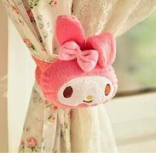 Kawaii Bowknot My Melody Kitty Curtain Buckle Doll Toy Home Decor A Pair Gift