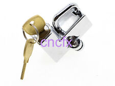 """FXCNC Chrome Motorcycle 7/8""""  22mm Helmet Lock with Keys  Hot Sell"""
