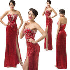 New Strapless Sweetheart Split Formal Bridesmaid Prom Dress Party Evening Gowns