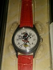 DISNEY PARKS Minnie Mouse WATCH Red band Hands move NEW
