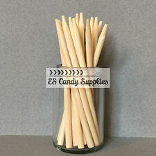 100 Wooden Candy Apple Sticks, Wooden Lollipop Sticks - 5.5""