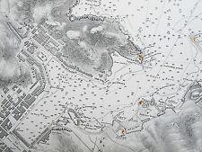 France 1842 port & rade de Port-Vendres vieille carte graphique l'Amirauté