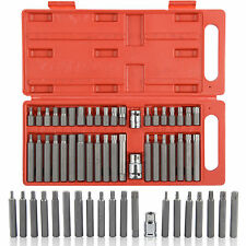 40 PIECE TORX STAR SPLINE HEX SOCKET BIT SET TOOL KIT GARAGE TOOLS EQUIPMENT