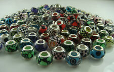 50pcs mix DIY bead lampwork fit European Charm Bracelet Wholesale beads m2