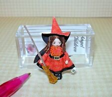 "Miniature Ethel Hicks ""Wee Halloween Witch"" DOLLHOUSE Miniatures 1/12 Scale"