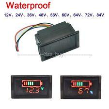 12v 24V 72v Lithium Blei Säure Batterie Anzeige Kapazität Tester + LED Voltmeter