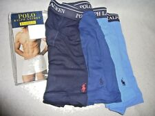 "NEW - POLO RALPH LAUREN PKG OF 3 ""PONY"" BOXER BRIEFS - MEN'S XL - RETAIL $40"