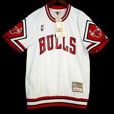 100% Authentic Bulls Mitchell & Ness Bulls Home Shooting Shirt M 40 - jordan *
