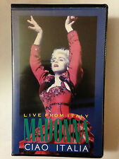 K7 VIDEO VHS MADONNA LIVE FROM ITALY
