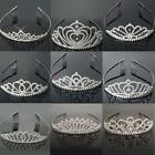 Pretty Flower Crystal Rhinestone Party Bridal Headband Hair Band Tiara Clear US