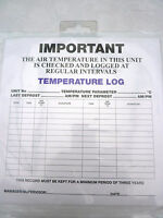 10x Temperature Log  Record Food Hygiene Guide Catering Log