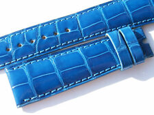 CHOPARD CROCO BAND STRAP BLUE 20 MM 70/105 NEW C20-7 -70%