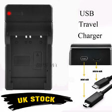 USB Battery Charger For Panasonic Lumix DMC-3D DMC-3D1 DMC-TZ6 TZ7 DMW-BCG10E UK