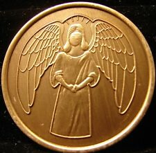 ANGEL Bronze Alcoholics Anonymous AA Medallion NA Narcotics TOKEN CHIP COIN C
