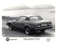 Triumph TR7 original b&w Press Photograph side/rear view Pub. No. 264901
