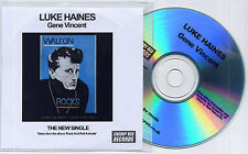 LUKE HAINES Gene Vincent 2013 UK 1-trk promo test CD Auteurs
