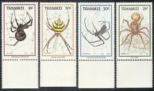 Transkei 1987 Spiders/Insects/Nature 4v set (b9954)