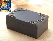 Classic Black Rectangle Music Box : Beauty and the Beast Soundtrack