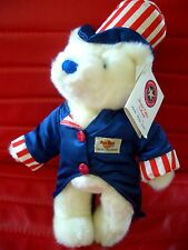 HRC Hard Rock Cafe Manchester 4th July Teddy Bear 2001 Made By Herrington LE120