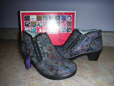 ALEGRIA BY PG LITE HANA MULTI DOT FLORAL BOOTIES SHOES HANNA 41/10-10.5 NEW $150