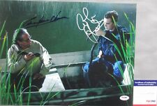 DOOMSDAY KILLERS!!! Edward James Olmos Colin Hanks Signed DEXTER 11x14 Photo PSA