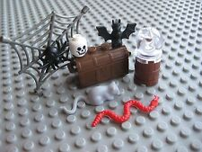 Lego Custom SPOOKY HALLOWEEN or Witch's Dungeon Set Snake Rat Bat Spider Skull
